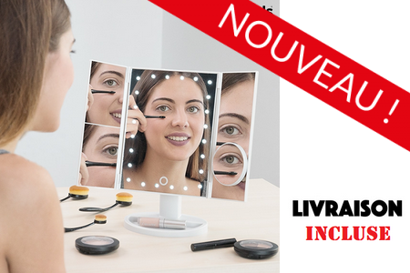 1 Miroir de Table grossissant LED