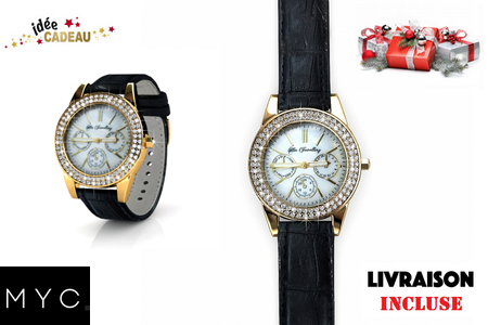 Une montre Sonia leather watch